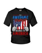 This Awesome Patriot Belongs to America Youth T-Shirt thumbnail
