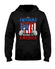 This Awesome Patriot Belongs to America Hooded Sweatshirt thumbnail