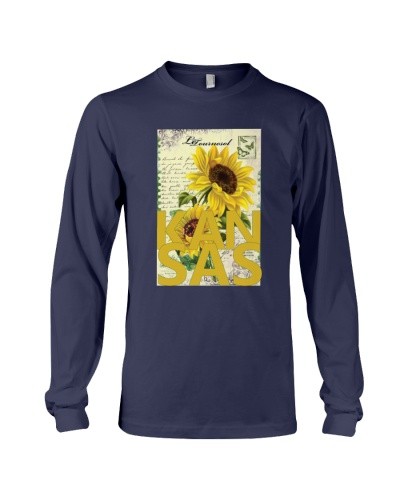 Kansas Sunflowers Vintage Postcard