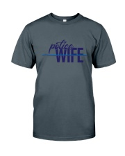 Police Wife - Thin Blue Line Classic T-Shirt thumbnail