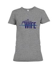 Police Wife - Thin Blue Line Premium Fit Ladies Tee thumbnail