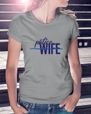 Police Wife - Thin Blue Line Ladies T-Shirt lifestyle-women-crewneck-front-7
