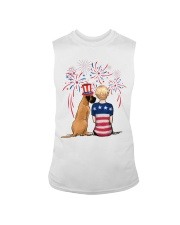 Fawn Great Dane Short Blonde Hair Woman 4th July Sleeveless Tee tile