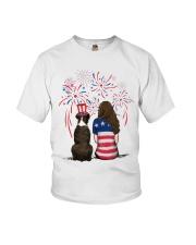 Brindle Boxer Long Brown Hair Woman 4th July Youth T-Shirt thumbnail