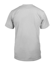 Tan White Boxer Silver Hair Man 4th July Classic T-Shirt back