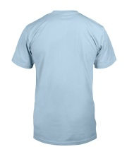 Tan White Boxer Silver Hair Man 4th July Classic T-Shirt back