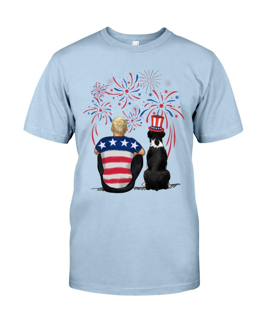 Black Boxer Blonde Hair Man 4th July Classic T-Shirt