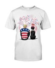 Black Boxer Blonde Hair Man 4th July Classic T-Shirt thumbnail