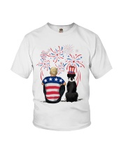 Black Boxer Blonde Hair Man 4th July Youth T-Shirt thumbnail
