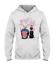 Black Boxer Blonde Hair Man 4th July Hooded Sweatshirt thumbnail
