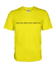 i got your aphex twins right here V-Neck T-Shirt thumbnail
