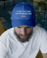 Flush the Turd  on November 3rd  Embroidered Hat garment-embroidery-hat-lifestyle-06