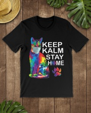 KEEP CALM STAY HOME Classic T-Shirt lifestyle-mens-crewneck-front-18