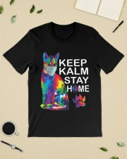 KEEP CALM STAY HOME Classic T-Shirt lifestyle-mens-crewneck-front-19