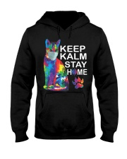 KEEP CALM STAY HOME Hooded Sweatshirt thumbnail