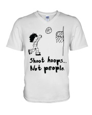 Shoot Hoops Not people V-Neck T-Shirt thumbnail