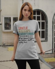 Uncle knows everything Classic T-Shirt apparel-classic-tshirt-lifestyle-19