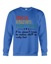 Uncle knows everything Crewneck Sweatshirt thumbnail