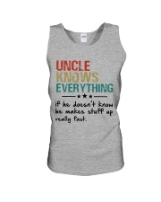Uncle knows everything Unisex Tank thumbnail