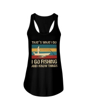 I go fishing and i know things Ladies Flowy Tank thumbnail
