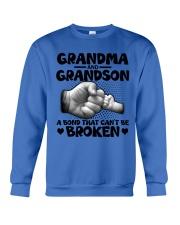 Grandma and Grandson A bond that can't be broken Crewneck Sweatshirt thumbnail