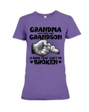 Grandma and Grandson A bond that can't be broken Premium Fit Ladies Tee thumbnail