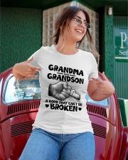 Grandma and Grandson A bond that can't be broken Ladies T-Shirt apparel-ladies-t-shirt-lifestyle-01