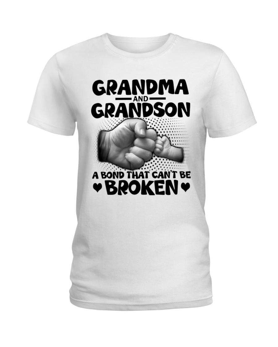 Grandma and Grandson A bond that can't be broken Ladies T-Shirt
