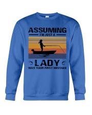I'm just a lady loves FISHING Crewneck Sweatshirt thumbnail