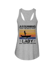I'm just a lady loves FISHING Ladies Flowy Tank thumbnail