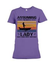I'm just a lady loves FISHING Premium Fit Ladies Tee thumbnail