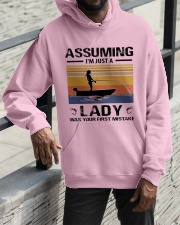 I'm just a lady loves FISHING Hooded Sweatshirt apparel-hooded-sweatshirt-lifestyle-front-11