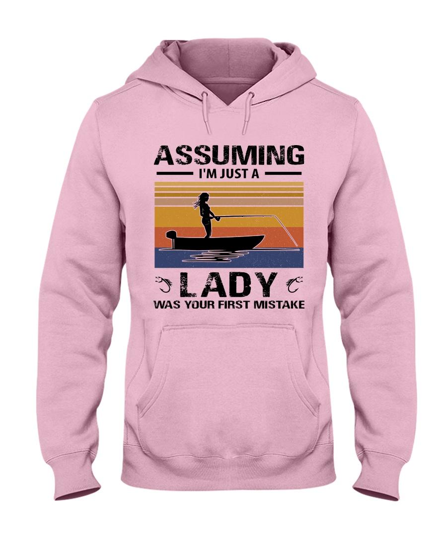 I'm just a lady loves FISHING Hooded Sweatshirt