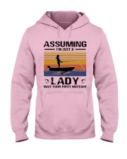 I'm just a lady loves FISHING Hooded Sweatshirt front