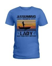 I'm just a lady loves FISHING Ladies T-Shirt thumbnail