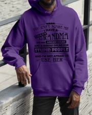 I have a crazy grandma Hooded Sweatshirt apparel-hooded-sweatshirt-lifestyle-front-11
