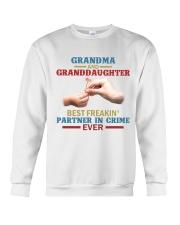 Grandma and granddaughter Best partner in crime Crewneck Sweatshirt thumbnail