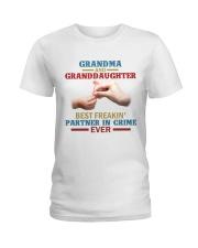 Grandma and granddaughter Best partner in crime Ladies T-Shirt front