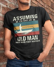 Assuming i'm just an old man love FISHING Classic T-Shirt apparel-classic-tshirt-lifestyle-26