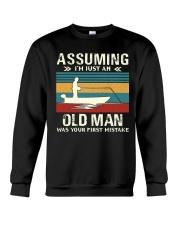 Assuming i'm just an old man love FISHING Crewneck Sweatshirt thumbnail