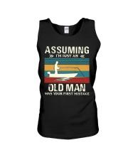 Assuming i'm just an old man love FISHING Unisex Tank thumbnail