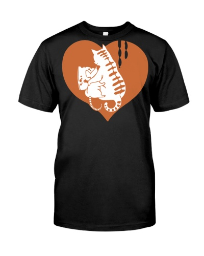 Valentine Cat and Mouse with Cheese and Heart
