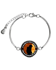THAT FIREFIGHTER IS MY WORLD Metallic Circle Bracelet thumbnail