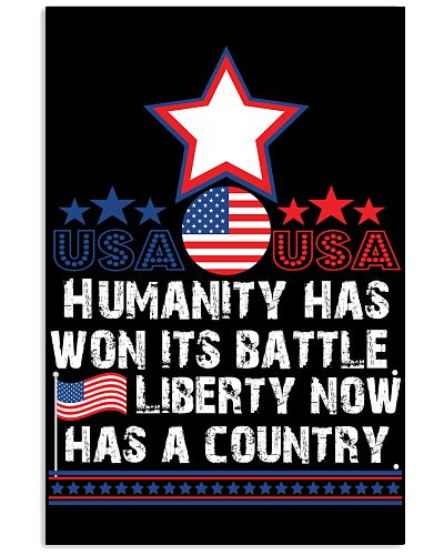 Humanity has --- battle Liberty now has a country