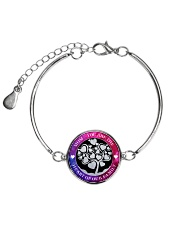 MOM YOU ARE THE HEART OF OUR FAMILY Metallic Circle Bracelet thumbnail