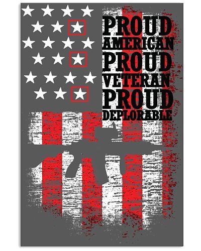 Proud American Proud Veteran Proud Deplorable