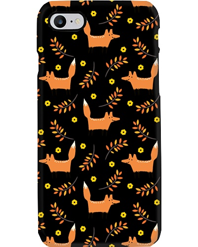 AUTUMN FOX AND LEAVES