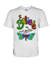 I believe in miracle V-Neck T-Shirt thumbnail
