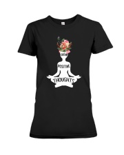 Grow possitive thoughts Premium Fit Ladies Tee front