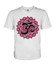 Mandala om V-Neck T-Shirt thumbnail